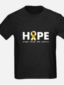 Gold Ribbon Hope T