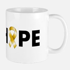 Gold Ribbon Hope Mug