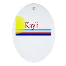 Kayli Oval Ornament