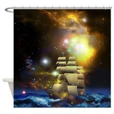 Sail Ship Universe Shower Curtain