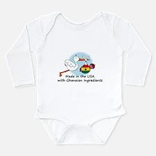 Unique Ghana Long Sleeve Infant Bodysuit