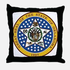 Oklahoma State Seal Throw Pillow