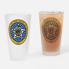 Oklahoma State Seal Drinking Glass