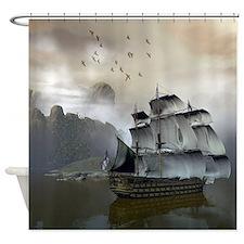 Old Sail Ship Shower Curtain