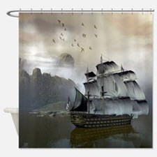 Old Sail Ship Shower Curtain