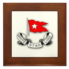 White Star Line Framed Tile