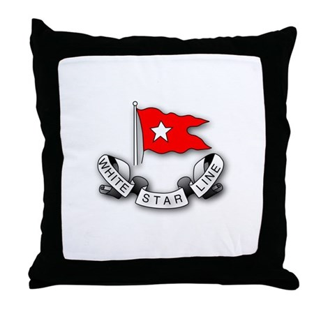 White Star Vlogger Logo Throw Pillow