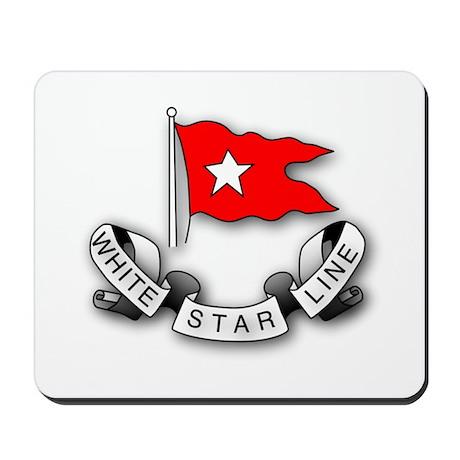 White Star Vlogger Logo Mousepad