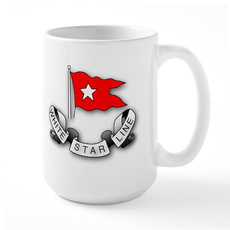 White Star Vlogger Logo Large Mug
