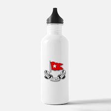 White Star Vlogger Logo Water Bottle