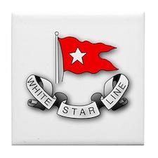 White Star Vlogger Logo Tile Coaster