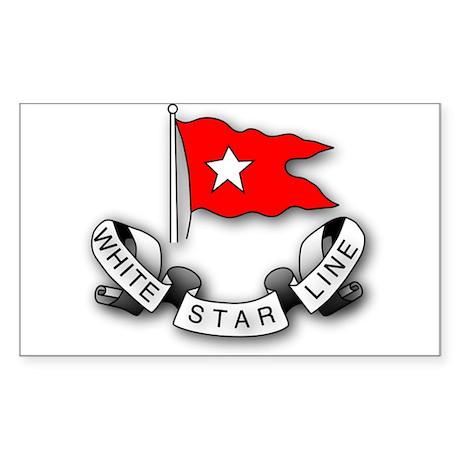 White Star Vlogger Logo Sticker (Rectangle)