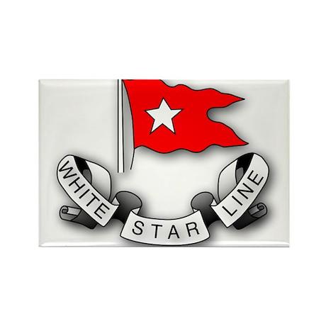 White Star Vlogger Logo Rectangle Magnet