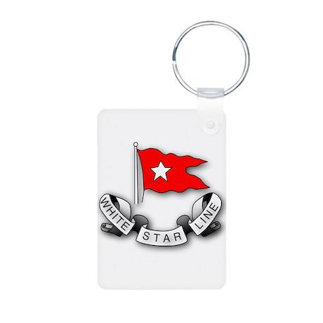 White Star Vlogger Logo Aluminum Photo Keychain