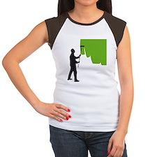 painter man Women's Cap Sleeve T-Shirt