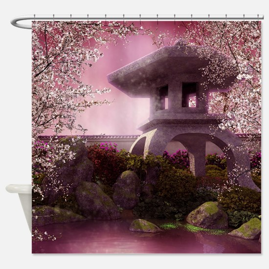 Oriental Garden Shower Curtain