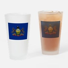 Pennsylvania State Flag Drinking Glass