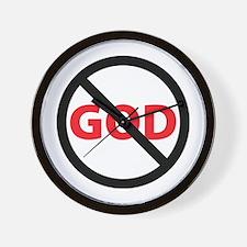 Circle Slash God Wall Clock