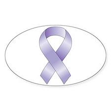 Lavender/Periwinkle Ribbon Bumper Stickers