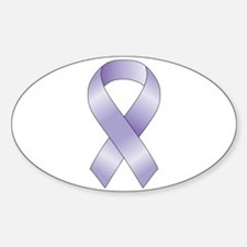Lavender/Periwinkle Ribbon Sticker (Oval)