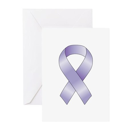 Lavender/Periwinkle Ribbon Greeting Cards (Pk of 1