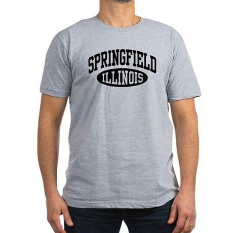 Springfield Illinois Men's Fitted T-Shirt (dark)
