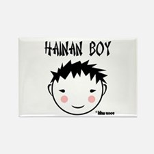 China Boy Rectangle Magnet