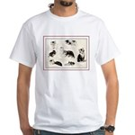 CATS EATING & PLAYING White T-Shirt