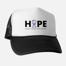 Lavender/Periwinkle Ribbon Hope Trucker Hat
