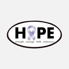 Lavender/Periwinkle Ribbon Hope Patches