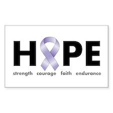 Lavender/Periwinkle Ribbon Hope Bumper Stickers
