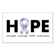 Lavender/Periwinkle Ribbon Hope Decal
