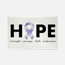 Lavender/Periwinkle Ribbon Hope Rectangle Magnet