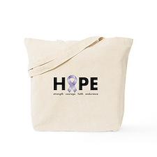 Lavender/Periwinkle Ribbon Hope Tote Bag