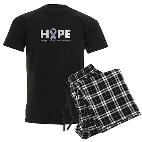 Lavender/Periwinkle Ribbon Hope Men's Dark Pajamas