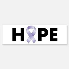 Lavender/Periwinkle Ribbon Hope Bumper Stickers