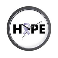 Lavender/Periwinkle Ribbon Hope Wall Clock