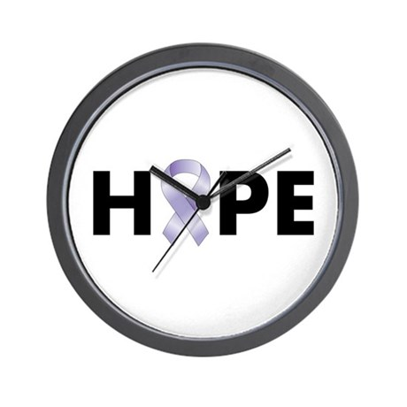 Lavender/Periwinkle Ribbon Hope Wall Clock