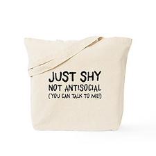 Just Shy Tote Bag