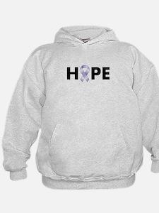 Lavender/Periwinkle Ribbon Hope Hoodie