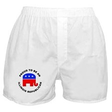 Illinois Republican Pride Boxer Shorts