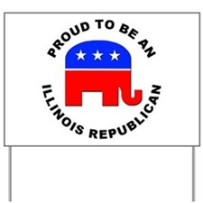 Illinois Republican Pride Yard Sign