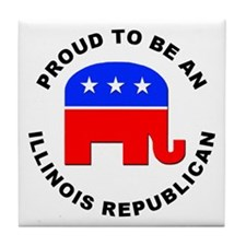 Illinois Republican Pride Tile Coaster