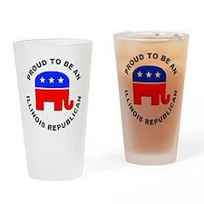 Illinois Republican Pride Drinking Glass