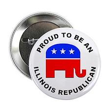 """Illinois Republican Pride 2.25"""" Button (10 pack)"""