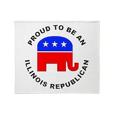 Illinois Republican Pride Throw Blanket