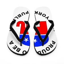New York Republican Pride Flip Flops