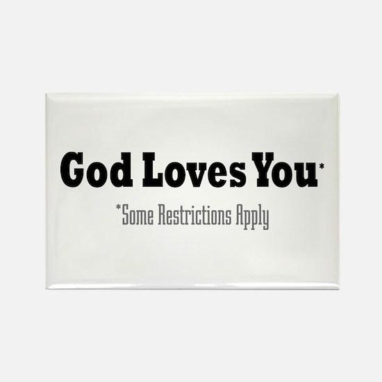 God Loves You Rectangle Magnet (10 pack)