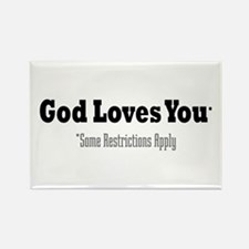 God Loves You Rectangle Magnet