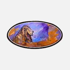 Lion! Wildlife art! Patches